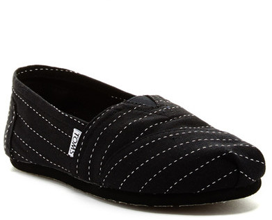 TOMS Pin Stripe Classic Slip-On Shoe by Toms