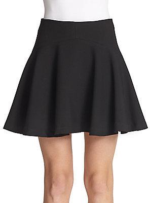 Stretch-Knit A-Line Skirt by Milly