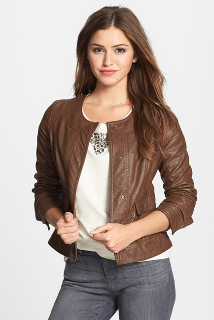 KUT from the Kloth Faux Leather Snap Front Jacket by KUT from the Kloth